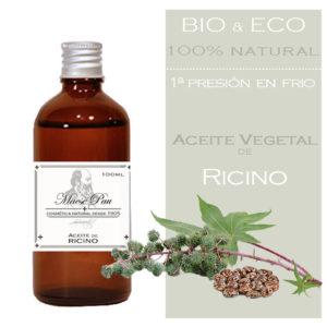 aceite de ricino bio para hacer jabones, cosméticos naturales y perfumes