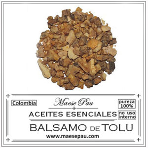 aceite esencial de bálsamo de tolu