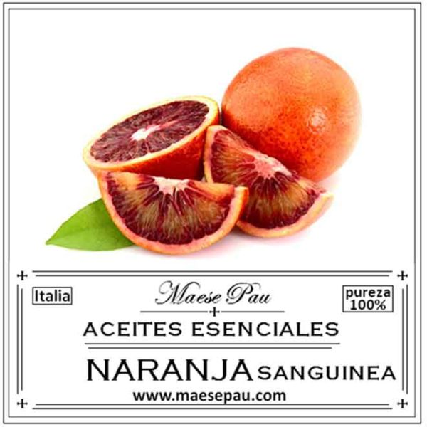 aceite esencial de naranja sanguinea