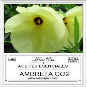 esencia de ambreta co2 para perfumería