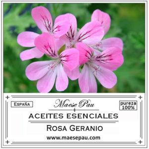 aceite esencial de rosa geranio
