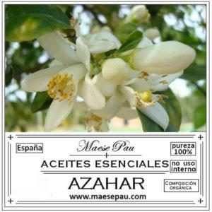 esencia aromática de azahar