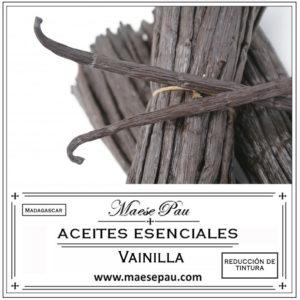 aceite esencial de vainilla - reducción de tintura