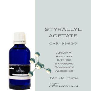 Styrallyl Acetate Aroma Avellana Intenso Aroma Expansivo Aromas Dominante Aldeidico FAMILIA: Frutal