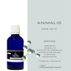 Animalis: Aroma ambarino Aroma animálico Aromas matices de amamelis, fondos de pieles curtidas, penetrante. FAMILIA: Animalis